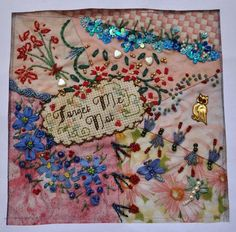 I ❤ crazy quilting, coss stitching, beading & ribbon embroidery  . . . Complete lesson 1 ~By Kathleen in Beautiful Nelson Bay