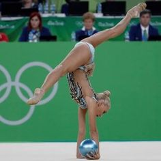 Yana KUDRYATSEVA (Russia) ~ Bal - SILVER MEDAL @ Olympic Games São Paulo-Brazil 2016  Photographer Oleg Naumov.