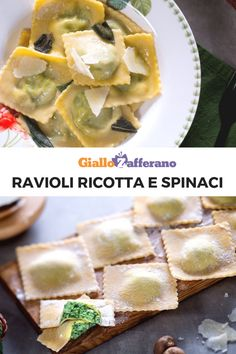 Discover recipes, home ideas, style inspiration and other ideas to try. Pasta Per Ravioli, Ricotta Ravioli, Tortellini, Pasta Recipes, Cooking Recipes, Pasta Maker, Gnocchi, Pasta Dishes, Pizza