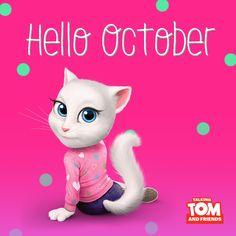 Wishing you all a great October! xo, Talking Angela #TalkingAngela #MyTalkingAngela #October #happy #autumn #cute #LittleKitties