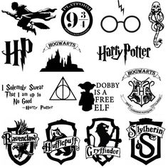 Harry Potter Stencils, Stickers Harry Potter, Images Harry Potter, Harry Potter Symbols, Harry Potter Painting, Theme Harry Potter, Harry Potter Tumblr, Harry Potter Aesthetic, Harry Potter Quotes