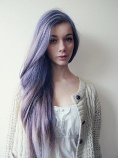 Purple and grey hair