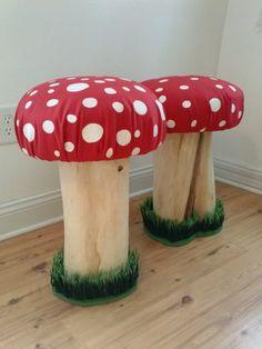 Toadstool Pixie Fairy Mushroom Stool. by PixieBrook on Etsy, $170.00