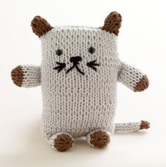 Image of Loom Knit Cat:  crochet instead?