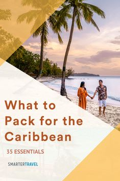 So you're headed to the Caribbean for a few days (or week) of beach relaxation, swimming, and maybe even some diving or cave exploration. Here's what to pack for a Caribbean vacation whether you're headed anywhere from Aruba to Puerto Rico. Caribbean Vacations, What To Pack, Packing Tips, Beach Trip, Puerto Rico, Diving, Cave, Swimming, Explore