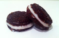 """Raw """"Cream"""" Filled Chocolate Cookies"""