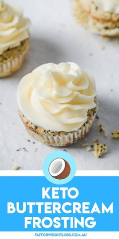 Creating a Keto Buttercream Frosting cant get much easier than this. With just a couple of ingredients a mixing bowl and a whisk youll get yourself the fluffiest keto frosting for your yummy keto-friendly cupcakes and cakes. Low Carb Desserts, Low Carb Recipes, Dessert Recipes, Easy Recipes, Salad Recipes, Ketogenic Recipes, Chili Recipes, Recipes Dinner, Ketogenic Diet