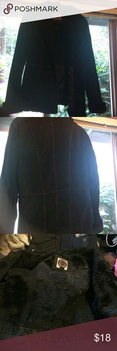 Leather coat ☦ Heavy and insulating. Received lots of compliments over the years. Can fold collar up for more warmth! *Holes in pockets, and if so desire will need to attach your buttons of choice to close (2 holes).  Giacca from Nordstrom Rack. Jackets & Coats Pea Coats