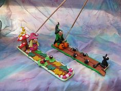 Para el incienso by Crea tu mundo, via Flickr Creative Crafts, Diy And Crafts, Clay Projects, Projects To Try, Cute Clay, Fondant Toppers, Incense Holder, Polymer Clay Crafts, Cold Porcelain
