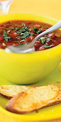 Summer-Garden Gazpacho  - Juicy, ripe and colorful, fresh tomatoes are one of the season's greatest pleasures. Turn them into something special to enjoy any time of day with these easy, delicious recipes.