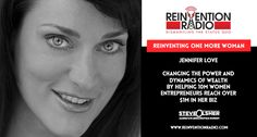 TUNE IN to this episode of Reinvention Radio with Jennifer Love for Reinventing One More Woman. She's helping woman globally come together and changing the power and dynamics of wealth by helping 10M women entrepreneurs reach over $1M in her biz by 2030. Jennifer's been featured in the The New York Times, National Geographic, Huffington Post, TIME, Shark Tank, Entrepreneur, just to name a few. http://reinventionradio.com/reinventing-one-more-woman #reinventionradio #onemorewoman…
