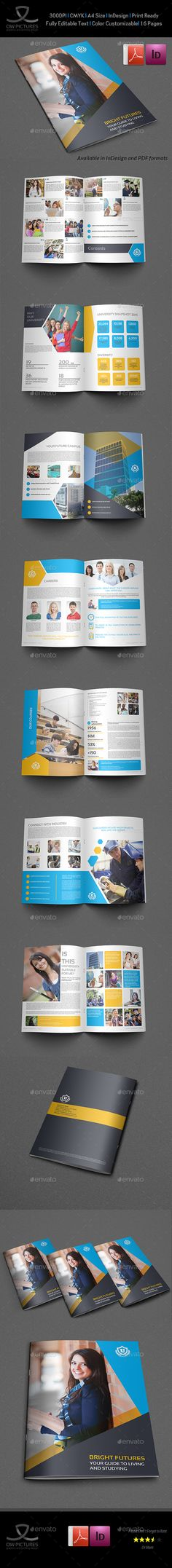 University - College Brochure Template - 16 Pages - InDesign Template • Only available here ➝ http://graphicriver.net/item/university-college-brochure-template-16-pages/16883151?ref=pxcr