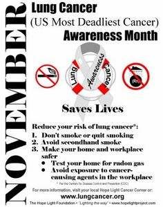 November is Lung Cancer Awareness month!  #LCSM #LCAM2013 #DxWorks