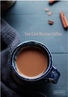 A low carb and sugar free non-alcoholic version of the comforting and delicious Mexican Coffee!