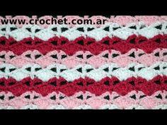 Punto Fantasía N°44 en tejido crochet tutorial paso a paso. - YouTube