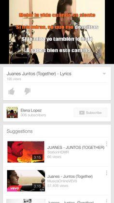 Juanes -Juntos Lyrics Song