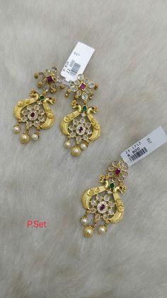 South Indian Jewellery, Silver Jewellery, Indian Jewelry, Jewelery, Awesome, Bracelets, Earrings, Gold, Jewlery