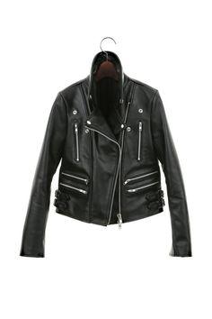 HorseHide leather jacket Black Leather Biker Jacket by CUSTOMDUO