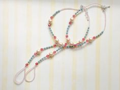 Tropical Heat: Barefoot sandals.  Costume silver, pearls, glass beads, + Swarovski crystals.