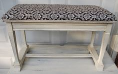 The Ironstone Nest: Upholstered Antique Piano Bench