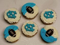 College Football Cupcakes