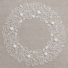 Roses de neiges — French Needlework Kits, Cross Stitch, Embroidery, Sophie Digard — The French Needle