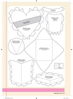 paper crafts templates | FREE Download your August free templates here | Papercraft ...
