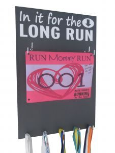 Use a race bibs & medal holder to display your running achievement in style