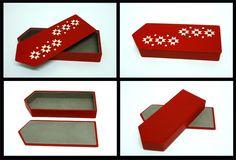 "Leather box ""Mitten"" designed and handmade by Jaanika Aadamsoo"