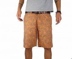 Mens Orange & Blue Dots Stylish Italian Mens Short Lifestyle 002