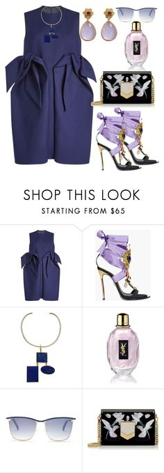 """Untitled #521"" by pesanjsp ❤ liked on Polyvore featuring Delpozo, Dsquared2, Anndra Neen, Yves Saint Laurent, Balmain, Jimmy Choo and Emma Chapman"