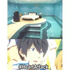 Haru control yourself, the pool and Haru are just friends. God Haru don't embarrass me in front of pool San...