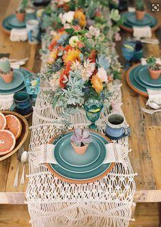 la decoración de mis mesas: Ideas en Macramé para decorar tus fiestas