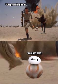 Thats not how the force works  Baymax is BB-8