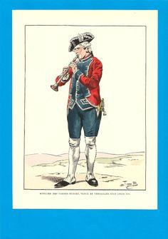 France - Planche de JOB - Gardes Suisses - Musicien sous Louis XVI in Collections, Militaria, Documents, revues, livres, Des origines à 1913 | eBay