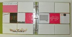 Project Life by Stampin' Up  I love the 4x4 pockets. My new favorite layout! And I love that its the still for 4x6 up top and at the bottom, it does make things complicated for me.