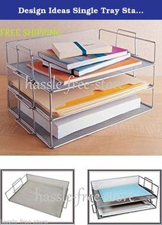 """Design Ideas Single Tray Stackable Paper Letter Office Desk Organizer Storage. 34159 Features:-Letter tray.-One tray.-Color: Silver.Product Type:-Paper Tray.Color:-Silver.Material:-Mesh.Dimensions:Overall Height - Top to Bottom: -10.5"""".Overall Width - Side to Side: -10.25"""".Overall Depth - Front to Back: -15.35"""".Overall Product Weight: -0.91 lbs.Stackable up to three traysstackable to neatly organize those loose papergreat addition to any office or desk spaceStainless steel 13 1/2 x 9 3/4 x…"""