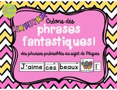 Phrases fantastiques - Pâques (FRENCH Predictable Easter S