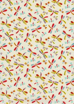 Pretty Dragonfly on White Japanese Yuzen Chiyogami Washi Paper Sheet 23 x 15 cm (9 x 6 inches) via Etsy