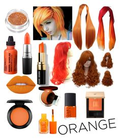 """""""Orange"""" by asylumfreak ❤ liked on Polyvore featuring beauty, Lime Crime, MAC Cosmetics, Clinique, Daniel Sandler, Yves Saint Laurent, NARS Cosmetics and Bobbi Brown Cosmetics"""