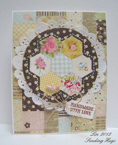 quilt pattern using hexagon dies Love this layout