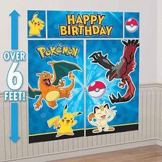 Party Banner Wall Scene Setter - Pokemon