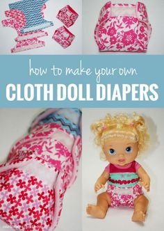 How to make cloth diapers for a doll | onelittleproject.com