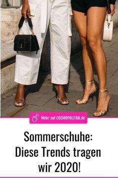 Gestreifte Kleider: Dieser Modetrend für 2020 macht schlank! Cosmopolitan, Cooler Look, Espadrilles, High, Outfits, Summer Accessories, German Fashion, Beautiful Shoes, Styling Tips