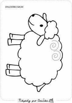 sheep coloring page Sheep Crafts, Farm Crafts, Preschool Crafts, Easter Crafts, Animal Crafts For Kids, Art For Kids, Embroidery Patterns, Quilt Patterns, Sheep Drawing