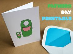 Free printable monster Fathers Day card