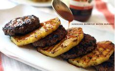 Hawaiian Barbecue Bacon Burgers