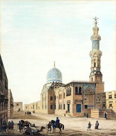 Complex of Sultan Qaytbay1818  By Pascal Xavier Coste - French, 1787-1879