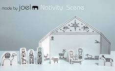 creche de noel Made by Joel Paper City Nativity Scene Christmas Activities, Christmas Crafts For Kids, Christmas Printables, All Things Christmas, Winter Christmas, Christmas Decorations, Xmas, Advent Activities, Winter Holidays