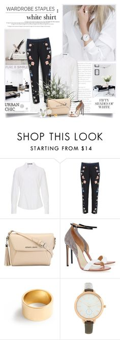 """""""The White Shirt"""" by thewondersoffashion ❤ liked on Polyvore featuring Betty Barclay, Armani Jeans, Francesco Russo, J.Crew and New Look"""